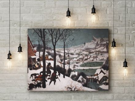 Pieter Bruegel the Elder: Hunters in the Snow. Fine Art Canvas.